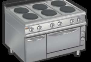 Baron 7PCF/E120 Six Burner Electric Cook Top with Electric Oven