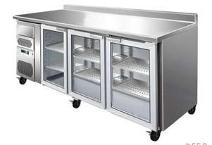 F.E.D. FE20G TROPICALISED Three Doors Bar Fridge