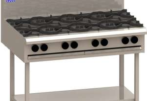 Luus BCH-6B3C 1200mm Cooktop with 6 Burners, 300mm Chargrill & Shelf Essentials Series
