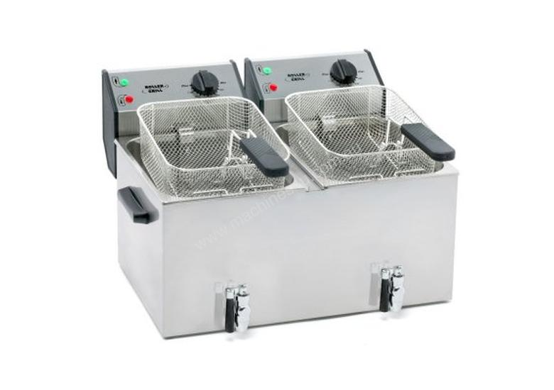 Roller Grill FD 80 DR 8L Double Fryer with Oil Tap