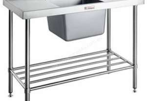 Simply Stainless - Single Sink Bench 600mm Deep