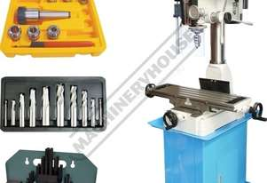 HM-32 Mill Drill Machine Package Deal (X) 540mm (Y) 190mm (Z) 410mm Includes Imperial Tooling