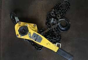 New Lever Hoist 3.0 Ton x 3 meter Drop Beaver Chain Winch 3000kg Lifting Block