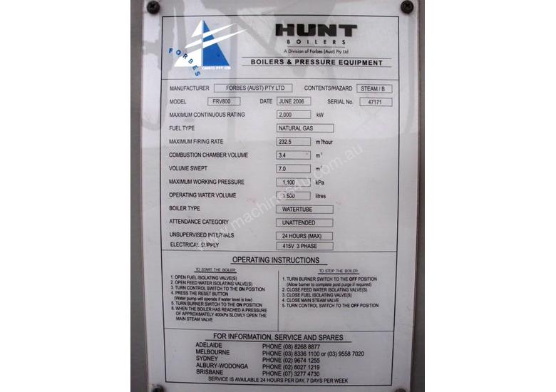 Used Forbes Bryant Steam Boiler Capacity 2 000kw Electric Boiler in ...