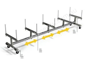 Bar Trolley For Aluminium Profiles