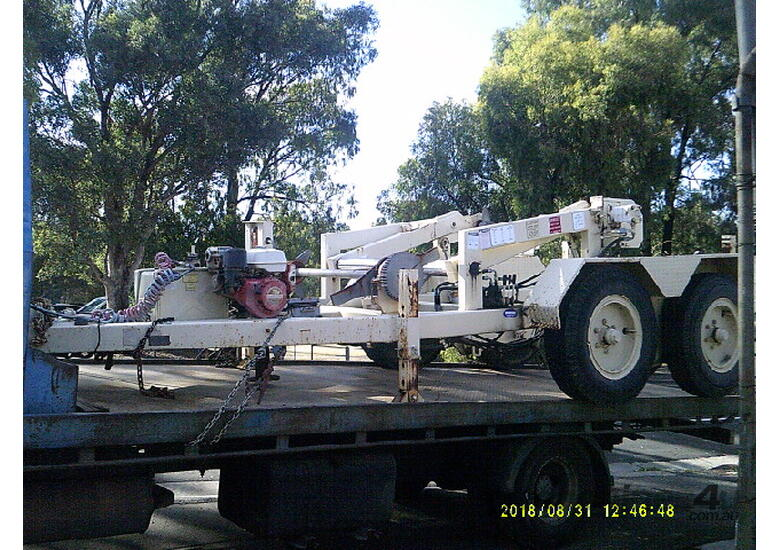 6ton tandem cable drum recovery trailer , refurbished