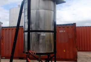 Stainless Steel Mixing Tank (Vertical), 4,500Lt