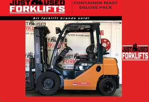 TOYOTA 8FG25 30356 2.5 TON 2500 KG CAPACITY LPG GAS FORKLIFT 4300 MM CONTAINER ENTRY