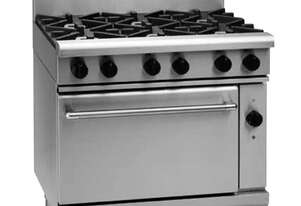 Waldorf 800 Series RNL8610GEC - 900mm Gas Range Electric Convection Oven Low Back Version