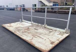 Road Plate with Handrail 4mtr x 1.8mtr
