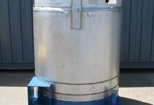 Stainless Steel Container Tank - 1000L - STP Flo Bin