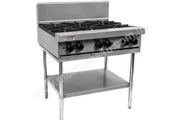 6 Open Top Burners with Stand and Shelf