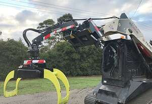 Log Skidding Grapple skid steer