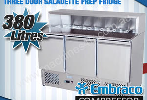 3 DOOR SALADETTE PREP FRIDGE - ES03-58