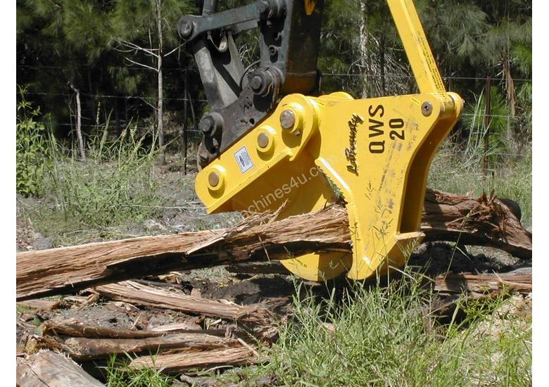 The QWS20 Wood Shear - Suits 20-30 Tonne Machines