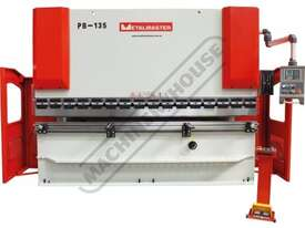 PB-135B Hydraulic NC Pressbrake 135T x 3200mm Estun NC-E21 Control 2-Axis with Hardened Ballscrew Ba - picture0' - Click to enlarge