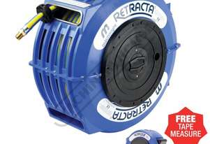 AW2101 Retractable Air & Water Hose Reel  20 Metre x Ø10mm ID Hose, Includes Free Tape Measure