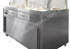 F.E.D. PG180FE-Y Heated Bain Marie Glass Top Food Display