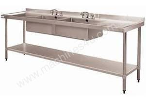 Stainless Steel Double Bowl Sink DN759 Vogue 240mm