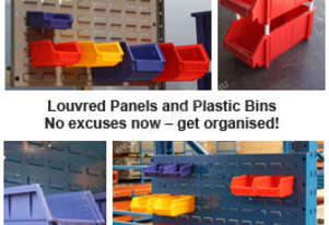 Plastic Bins  See Louvred Panel section below for