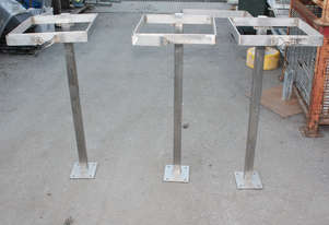 Bin bag holder support frame 400mm x 400mm top H 1
