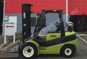 3 Tonne LPG (Gas) Forklift FOR SALE Clark C30L