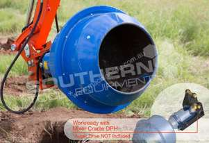 180L Cement Mixer 65mm Shaft suit Excavator ATTMIX