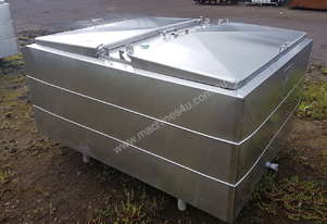 STAINLESS STEEL TANK, MILK VAT 1450 LT