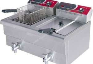 F.E.D EF-S7.52 10 Amp Double Benchtop Electric Fryer with Cold Zone
