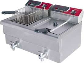 F.E.D EF-S7.52 10 Amp Double Benchtop Electric Fryer with Cold Zone - picture0' - Click to enlarge