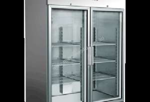 Exquisite GSC1410G Two Doors Stainless Steel Upright Chiller – Glass Door