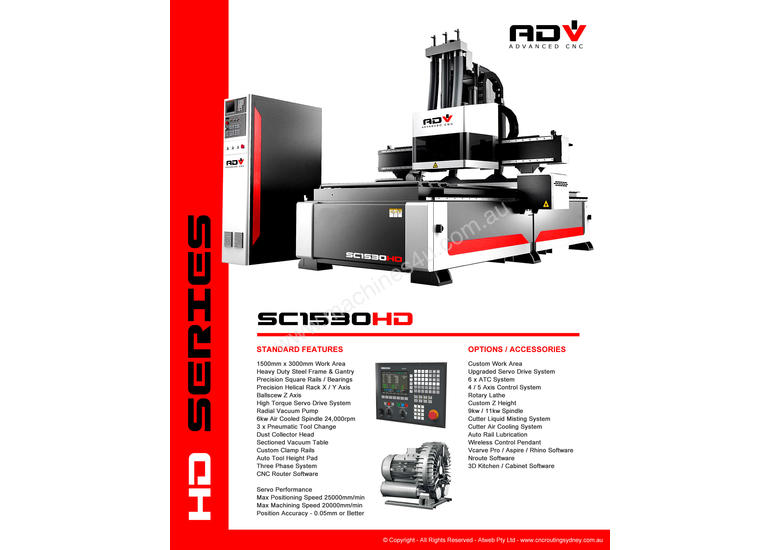 CNC Router - 1530 Kitchen Cabinet 1500 x 3000 - 2018 Model
