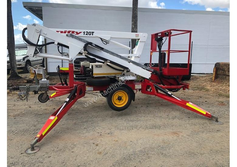 2007 Nifty Lift 120TPE Trailer mounted cherry picker