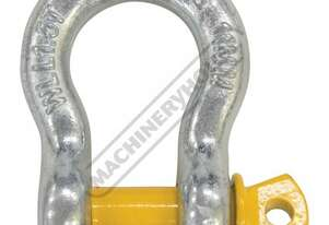 GSSB11 1.5T Bow Shackle Galvanised Finish With Yellow Pin