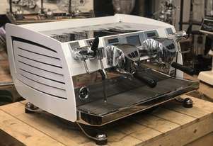 VICTORIA ARDUINO BLACK EAGLE 2 GROUP ESPRESSO COFFEE MACHINE WHITE CAFE WBC