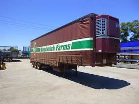 1997 Krueger 45ft Triaxle Drop Deck Refrigerated Tautliner Trailer - picture2' - Click to enlarge