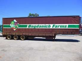 1997 Krueger 45ft Triaxle Drop Deck Refrigerated Tautliner Trailer - picture3' - Click to enlarge