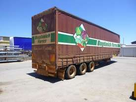 1997 Krueger 45ft Triaxle Drop Deck Refrigerated Tautliner Trailer - picture4' - Click to enlarge