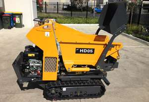 Hysoon Mini Site Dumper featuring scissor Lift with self loading bucket HLD500