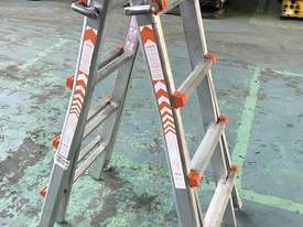 Waku Transformer Ladder Compact Telescopic Extension Double Sided Industrial 120kg - picture0' - Click to enlarge