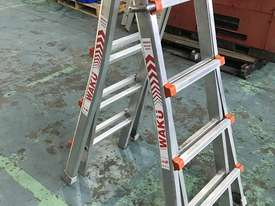 Waku Transformer Ladder Compact Telescopic Extension Double Sided Industrial 120kg - picture1' - Click to enlarge