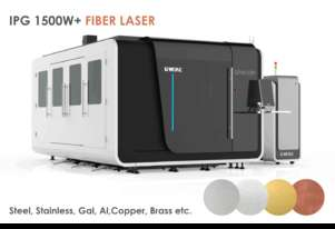 Fully enclosed Industrial Fiber laser- IPG 1.5kW (up to 4kW) 1.5x3m- Delivery/installation included!