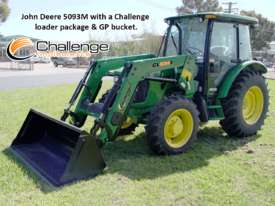 Challenge CL334X-Green loader for the front of your John Deere 50-90 HP Tractor, Quality built  - picture0' - Click to enlarge