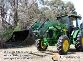 Challenge CL334X-Green loader for the front of your John Deere 50-90 HP Tractor, Quality built  - picture1' - Click to enlarge