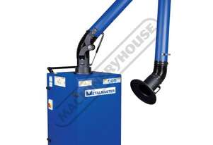S-H13 Mobile Welding Fume Extractor - Single Arm Dual Stage Filter System H13 HEPA Filtration & High