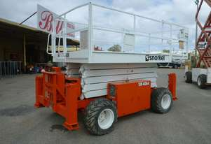 ROUGH TERRAIN SNORKEL 40FT DIESEL POWERED 4WD SCISSOR LIFT.