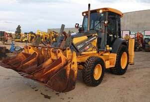 JOHN DEERE 315SJ 4WD BACKHOE WITH EXTENDER HOE AND LOW 2780 HRS