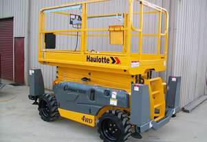 Haulotte 12DX 12M All Terrain Scissor Lift Hire Orange and Central West NSW