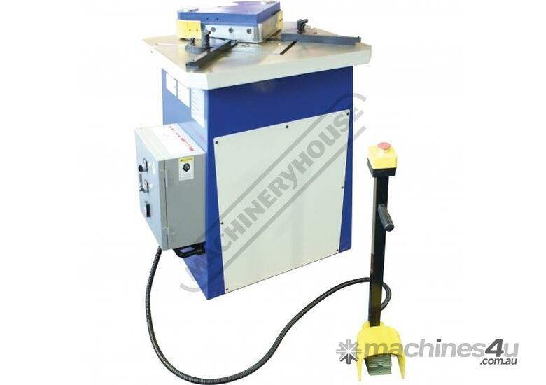 HN-220 Hydraulic Sheet Metal Notcher 200 x 200 x 4mm Mild Steel Capacity 200 x 200 x 2mm Stainless S
