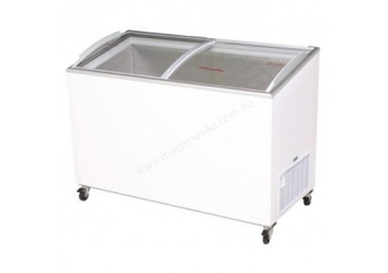 Bromic CF0400ATCG - Angled Glass Top Chest Freezer - 350L